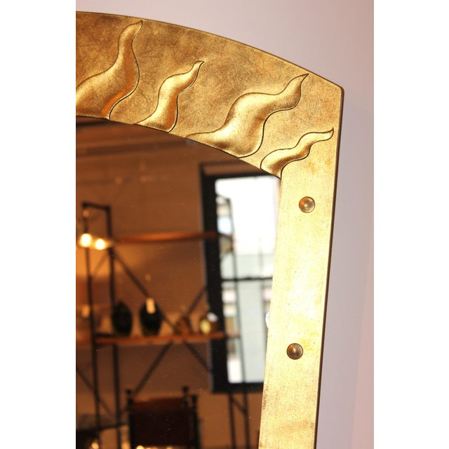 1980s David Marshall Èglomisé Mirror For Sale - Image 5 of 13