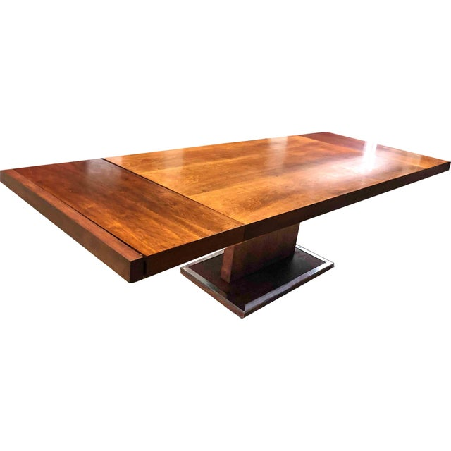 1970s Hollywood Regency Milo Baughman for Founders Walnut Extension Dining Table For Sale - Image 12 of 12