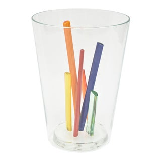 Attributed to Ettore Sottsass, Glass Centerpiece, Vase or Sculpture For Sale