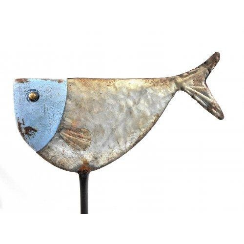 Metal Fish Sculpture on Stand - Image 5 of 6