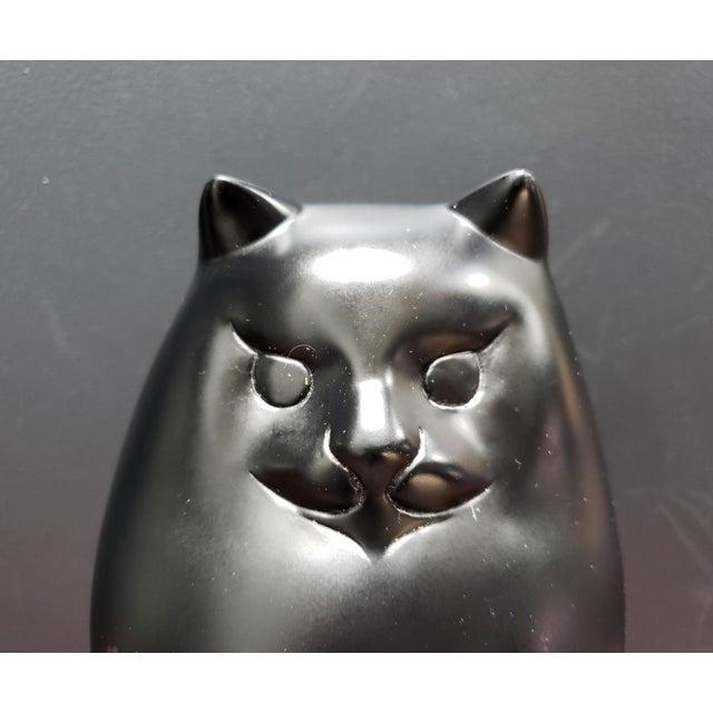 Black Persian Cat Sculpture by Richard H. Recchia Official Repro From Boston Mfa For Sale In Dallas - Image 6 of 8