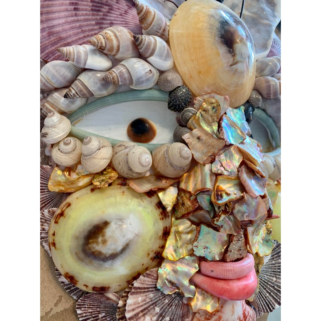 Commedia del Arté Brighella mask decorated with Sea Fans and Shells. Fantastic wall art and also nice on a stand. Throw a...