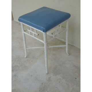 1970s Chinese Chippendale Metal Stool Preview