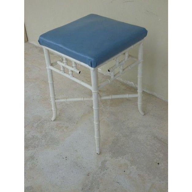 Vintage Chinese Chippendale metal stool with excellent proportions measuring 21/5 inches high x 14.5 inches long x 14.5...