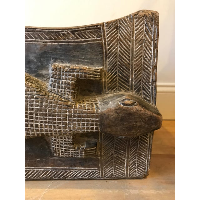 1960s 1960s Vintage African Wooden Crocodile Stool For Sale - Image 5 of 9