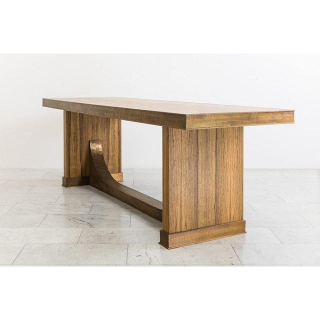 Damian Jones's Polstead Table employs the artist's penchant for bold forms with meticulous detailing. Using black limba,...