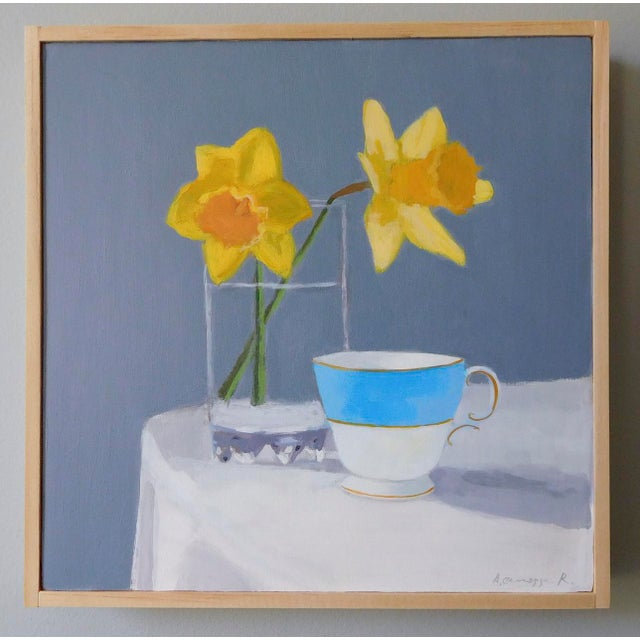 Daffodil and Teacup by Anne Carrozza Remick For Sale In Providence - Image 6 of 7