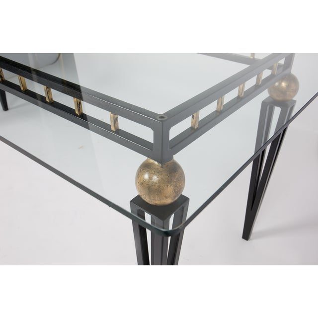 French Art Deco Forged Iron Dining Table - Image 7 of 10