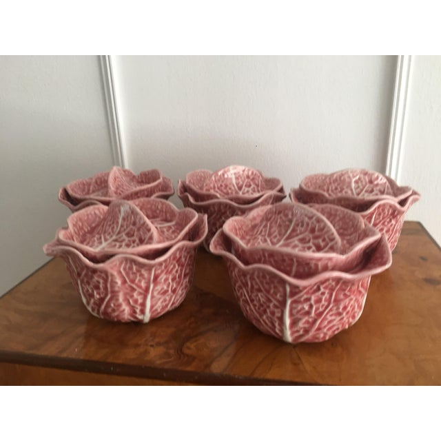 Set of 5 vintage Secla tureens. Cabbage style in pink. The pink is harder to find than the yellow Secla. Discontinued set....