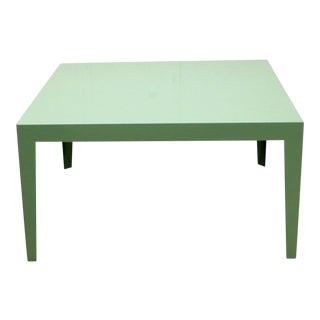 1950s Mint Green Mid-Century Powder Coated Steel Coffee Table For Sale