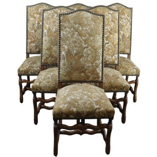 Vintage Dining Chairs French Sheepbone 1950 - Set of 6 For Sale
