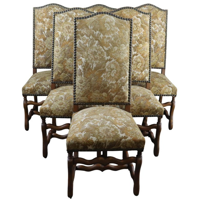 Magnificent Vintage Dining Chairs French Sheepbone 1950 Set Of 6 Alphanode Cool Chair Designs And Ideas Alphanodeonline