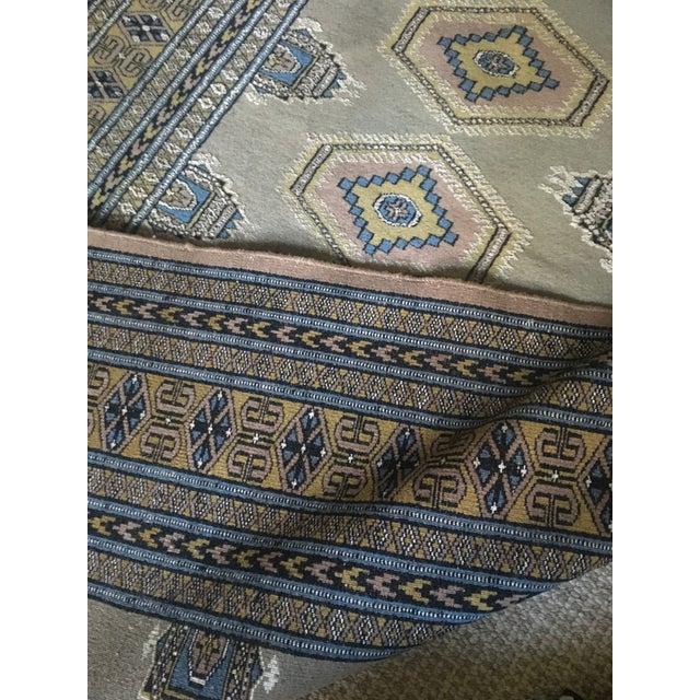 Vintage Pastel Colored Bokhara Rug For Sale - Image 4 of 8
