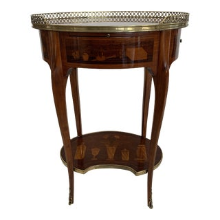 19th Century Francois Linke Oval Side Table For Sale