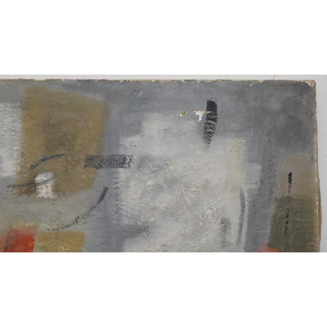 Mid Century Modern Abstract by Erika Baumgart c.1964 For Sale - Image 4 of 9