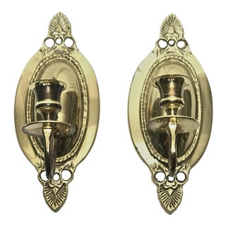 Brass Candle Sconces - A Pair
