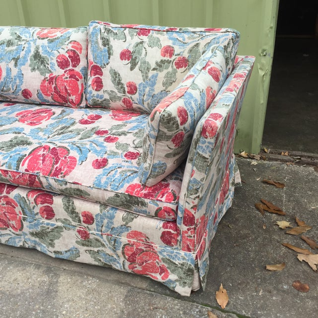 Vintage Mid-Century Modern Floral Love Seats - a Pair - Image 6 of 11