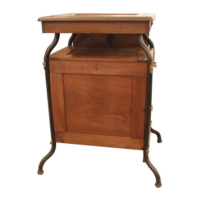 1920's Vintage Gestetner Duplicator Machine Wooden Cabinet For Sale In New York - Image 6 of 9