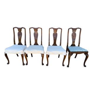 Queen Anne Dining Chairs - Set of 4 For Sale