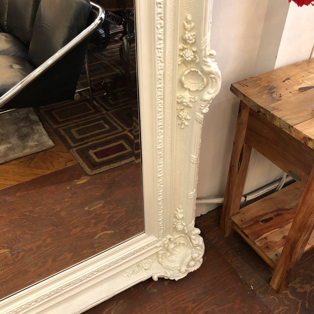 Rachel Ashwell Renaissance Large White Mirror For Sale - Image 9 of 13