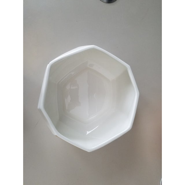 White & Gold Faceted Bowl - Image 5 of 5