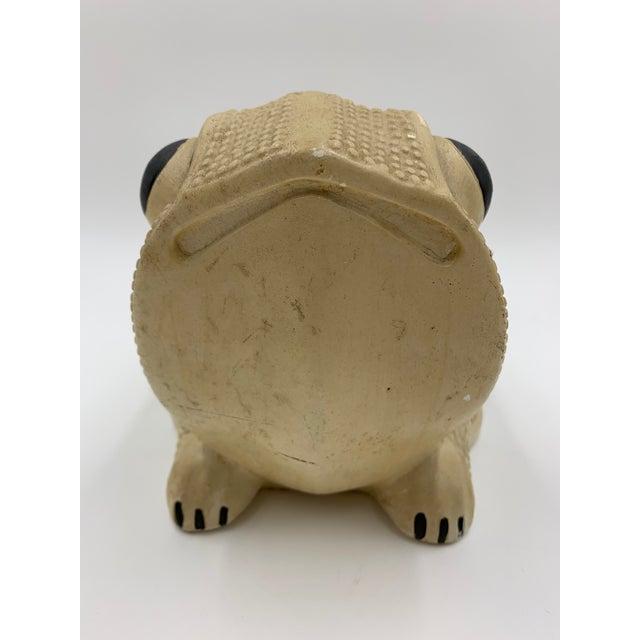 Mid-Century Modern Vintage Chalkware Frog Bank For Sale - Image 3 of 11