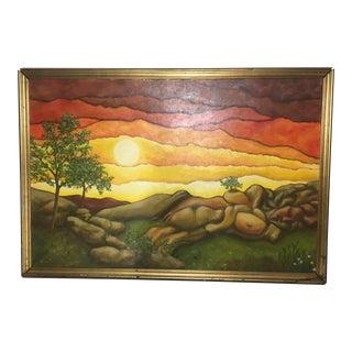 Surrealist Oil on Canvas Painting