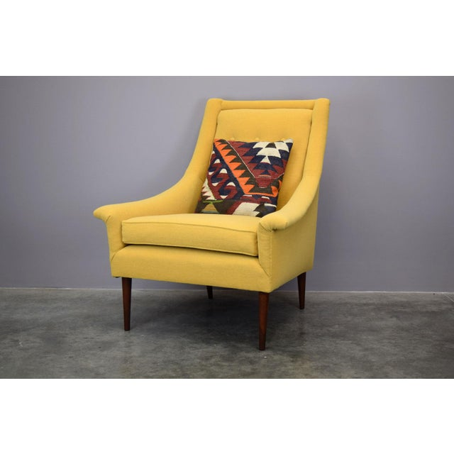 Refurbished Mid-Century Lounge Chair in Maharam Kvadrat Voyage - Image 5 of 7