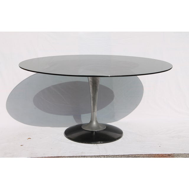 1960s Knoll-Style Black Dining Set - Image 10 of 11