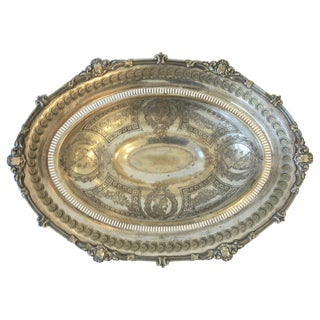 English Silver Footed Compote Bowl For Sale