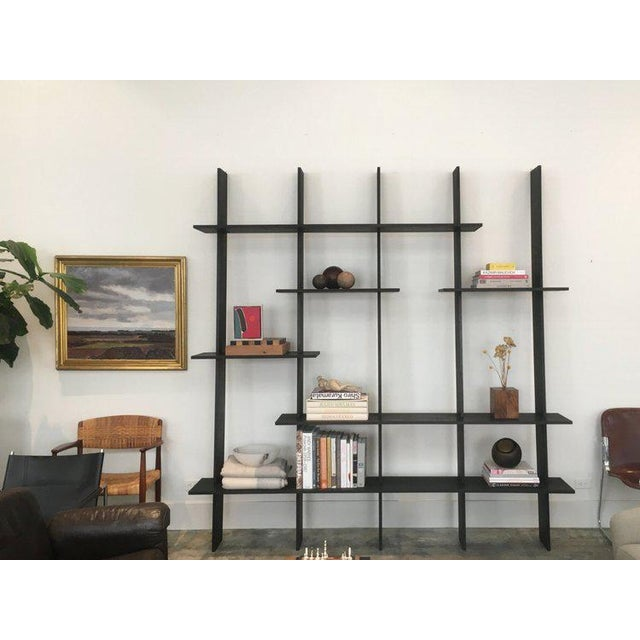 Contemporary Ozshop 'Angle of Repose' Shelving Unit - Ebonized For Sale - Image 3 of 3