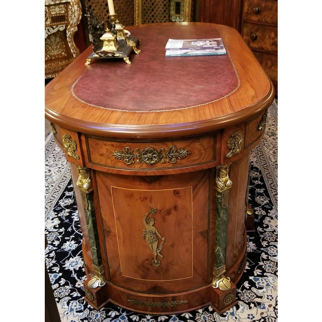 Egyptian Classical Revival Desk For Sale - Image 4 of 12