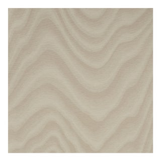 Sample - Schumacher Claridge Wallpaper in Cream For Sale