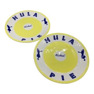 Vintage Syracuse-Lite Hula Pie Restaurantware Plates - a Pair For Sale