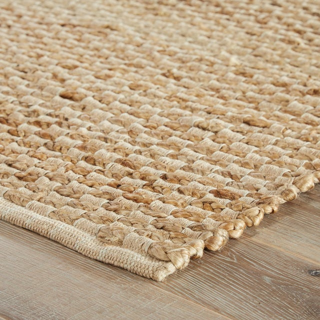 This natural area rug presents a simple and sophisticated staple to transitional homes. Neutral in an organic beige hue,...