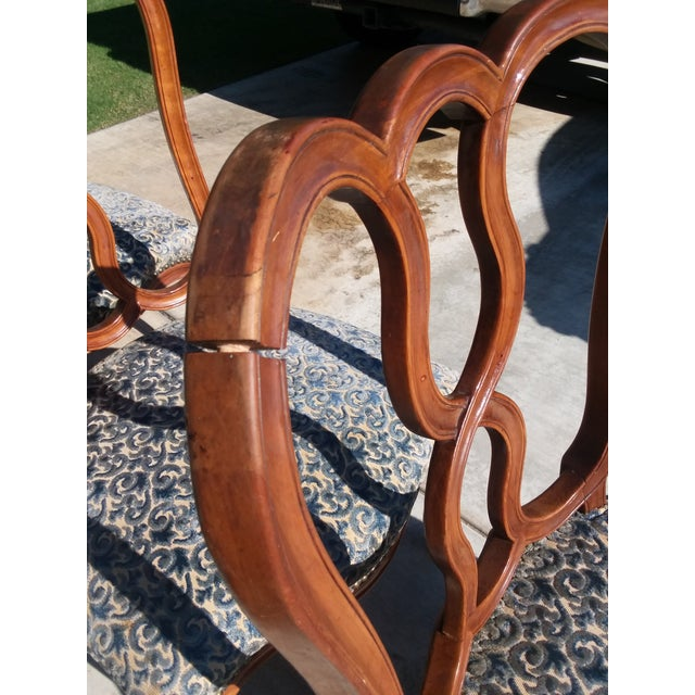 Wood Early 20th Century Vintage Louis XV French Ribbon Back Chairs - Set of 6 For Sale - Image 7 of 9