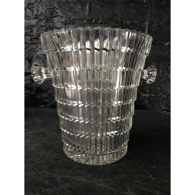 Transparent 1930s Art Deco Cut Glass Ice Bucket For Sale - Image 8 of 8