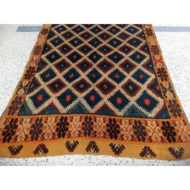 Navy Moroccan Runner - 4′8″ × 11′3″ For Sale - Image 5 of 6