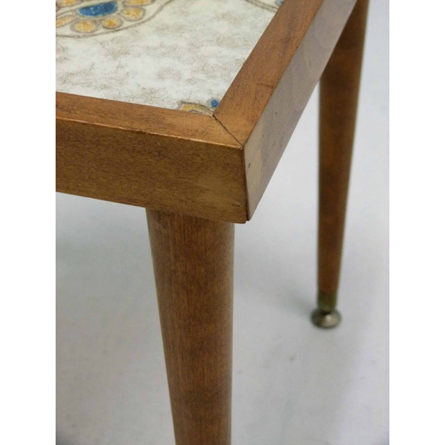 Monterey-Style Spanish Tile Side Table - Image 6 of 6