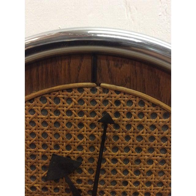 Tan Rare Arthur Umanoff Howard Miller Key Wind Pendulum Clock For Sale - Image 8 of 11
