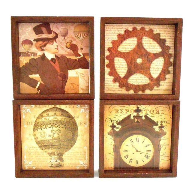 Steampunk Drink Coasters - Set of 12 For Sale In Chicago - Image 6 of 10