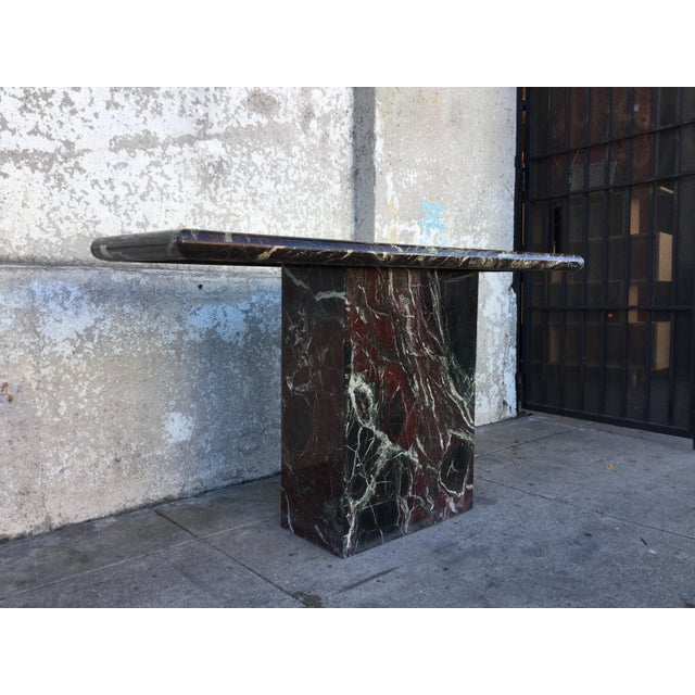 Marble Entryway Console Table For Sale - Image 5 of 6