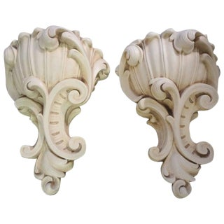 1940s Vintage French Serge Roche Inspired Plaster Sconces - a Pair For Sale