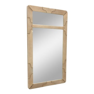 Karl Springer Leather Mirror