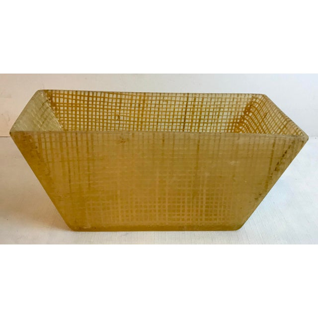 Plastic Vintage Mid Century Lucite and Twine Planter For Sale - Image 7 of 7