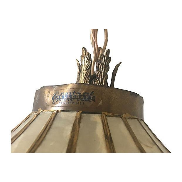 1950s Vintage Capiz Shell Chandelier For Sale - Image 9 of 10
