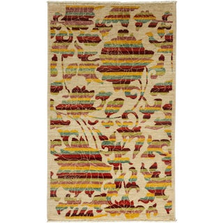 """Arts & Crafts Hand Knotted Area Rug - 3' X 5'1"""" For Sale"""