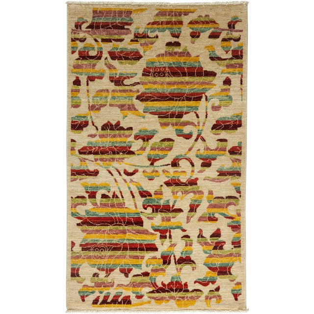 "Arts & Crafts Hand Knotted Area Rug - 3' X 5'1"" - Image 1 of 3"