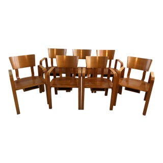 Thonet Mid-Century Bentwood Armchairs - Set of 7 For Sale