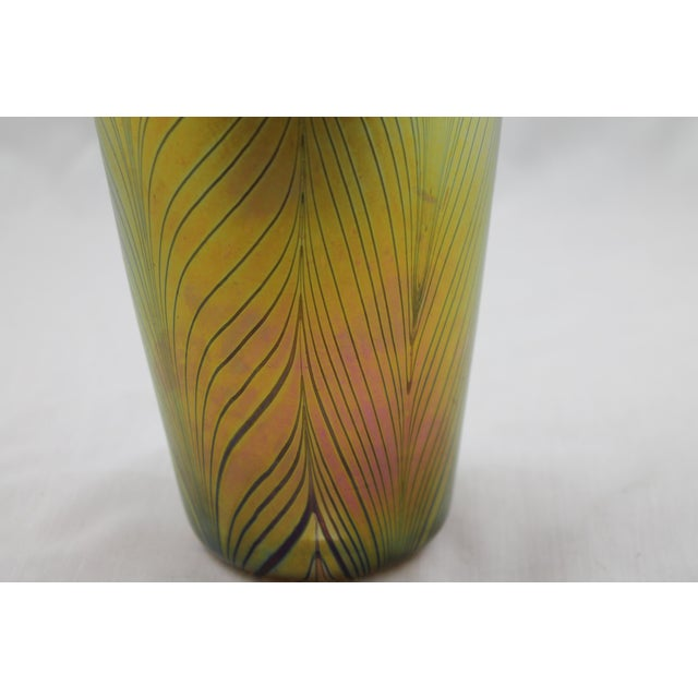 Contemporary Steuben Style Gold Vase - Image 8 of 11